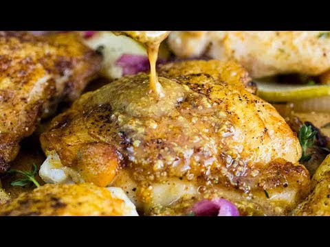 Baked Chicken Thighs With Maple Dijon Sauce
