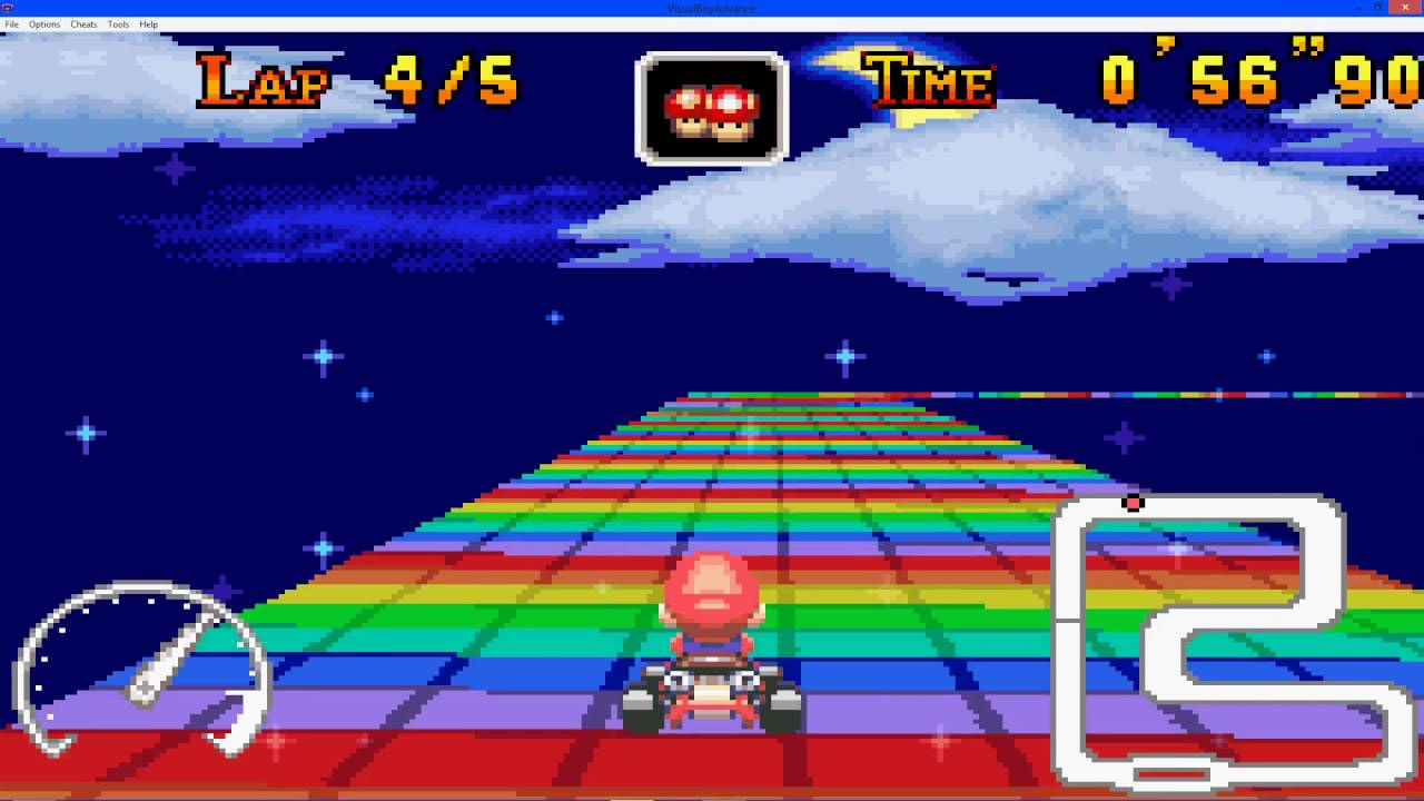 mario kart super circuit gameplay time trial snes rainbow road youtube. Black Bedroom Furniture Sets. Home Design Ideas