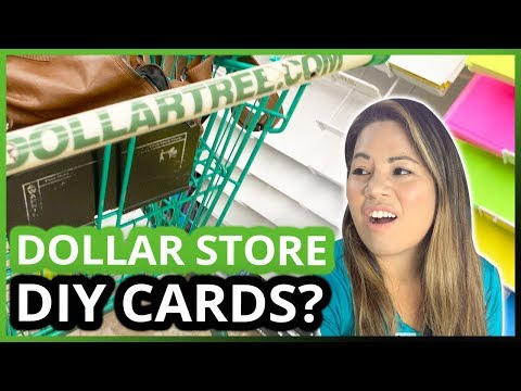 DOLLAR STORE💲DIY GREETING CARDS CHALLENGE