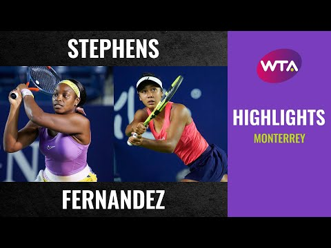 Sloane Stephens vs. Leylah Fernandez | 2020 Monterrey Second Round | WTA Highlights