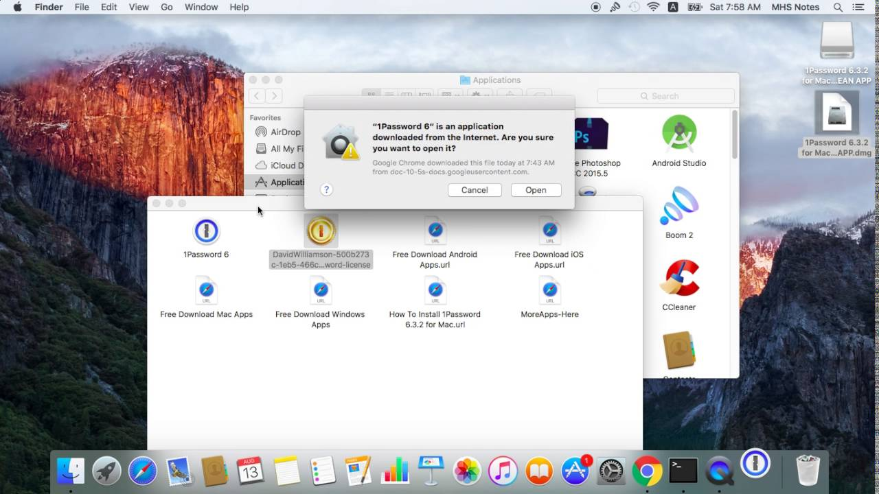 How To Install 1Password 6 3 2 for Mac