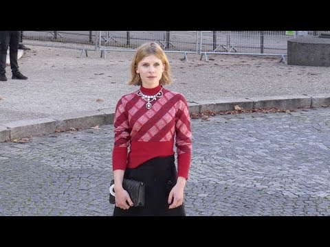 Clemence Poesy and more arriving for the Miu Miu Ready to Wear Fashion