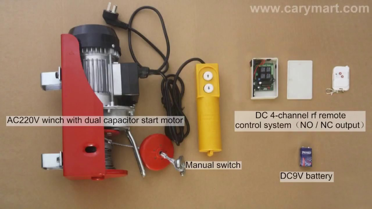 small resolution of diy remote control crane winch to replace the manual switch