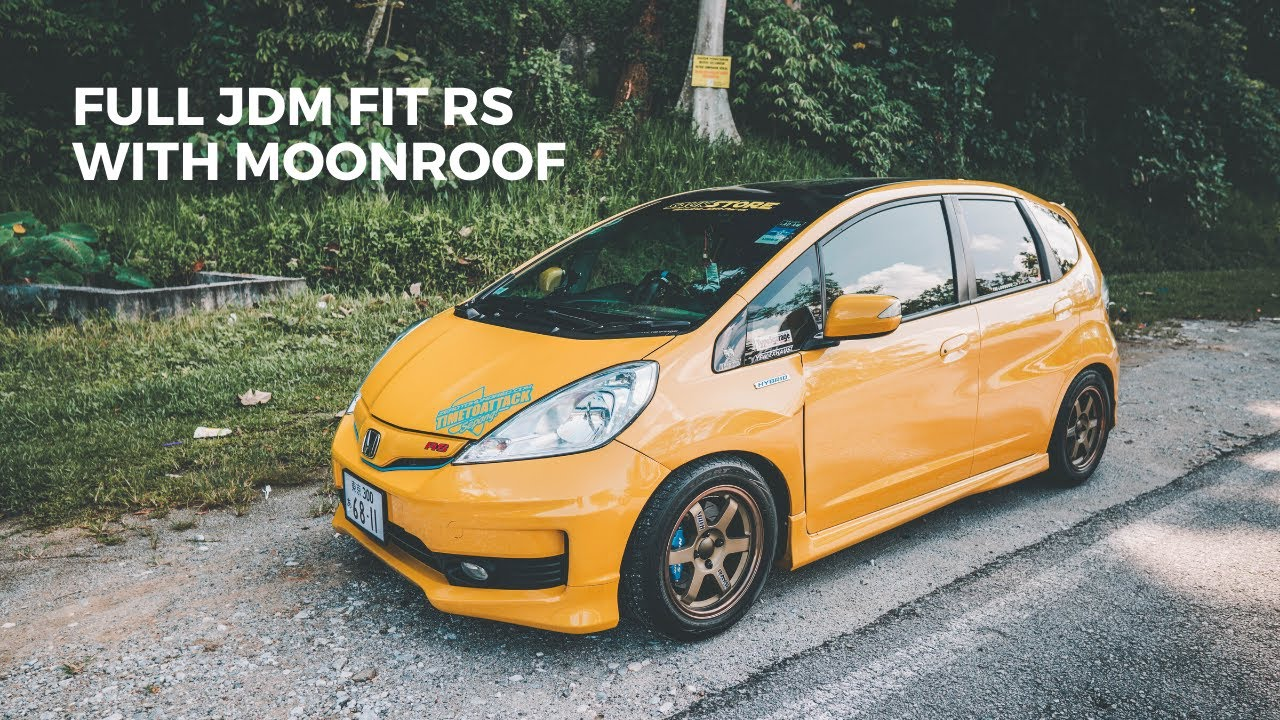HONDA JAZZ GE | FULLY CONVERTED JDM FIT RS + MOONROOF - YouTube