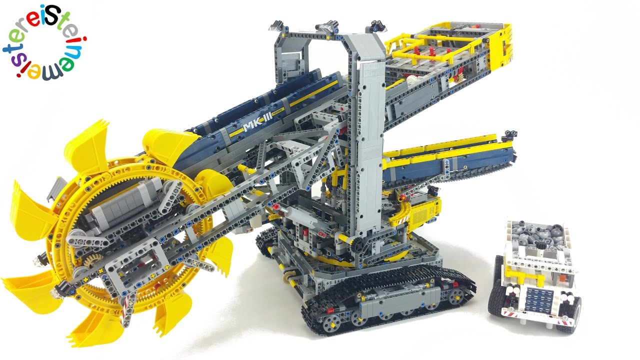lego technic 42055 bucket wheel excavator speed build. Black Bedroom Furniture Sets. Home Design Ideas