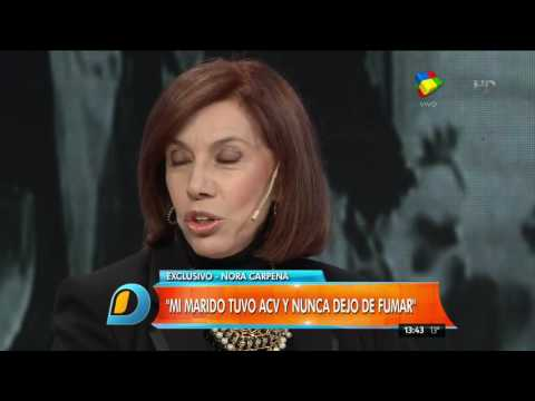 Nora Carpena en Intrusos: Mi marido Guillermo sufrió cuatro ACV