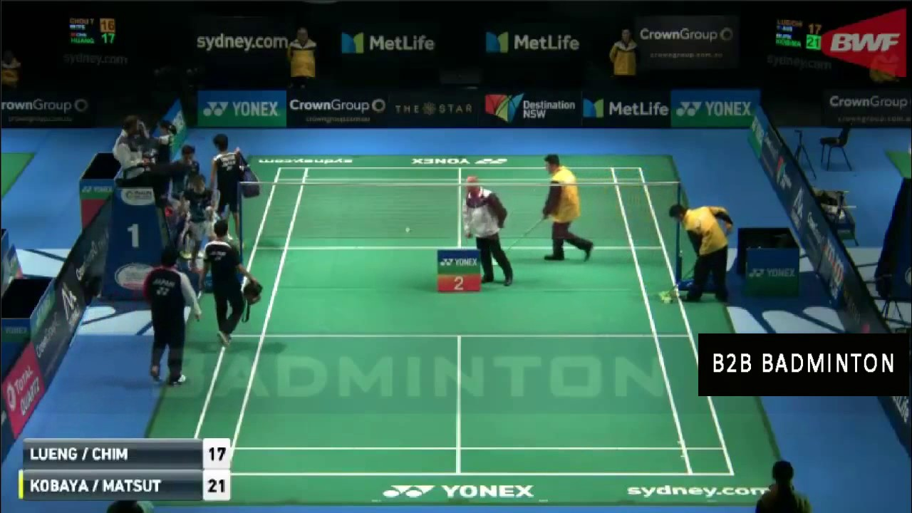 Badminton 2017 Australian Open Misaki Matsutomo Yugo Kobayashi vs