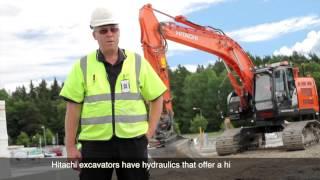 Swedish construction company showcases Hitachi excavators