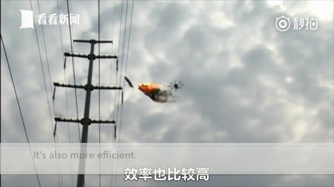 Power company uses flame-spewing drone to burn rubbish off high ...