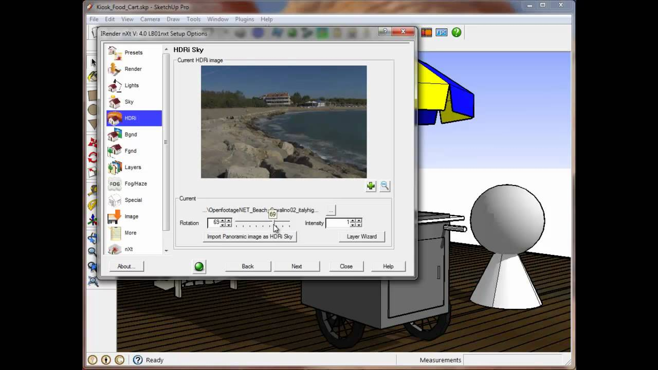HDRi Positioning Video for SketchUp Rendering