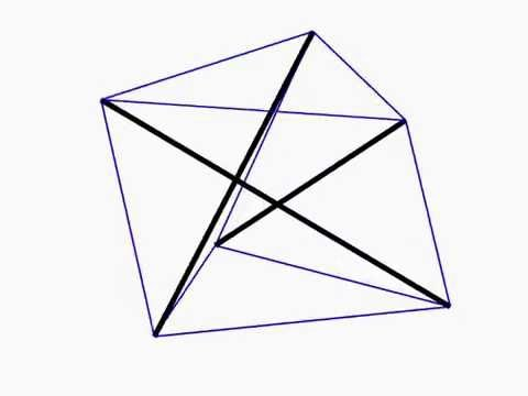 Form Finding Of Simple Tensegrity Structure Youtube