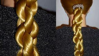 Быстрая причёска в школу самой себе на средние/длинные волосы.ЛЁГКАЯ коса.Плетение кос/волос