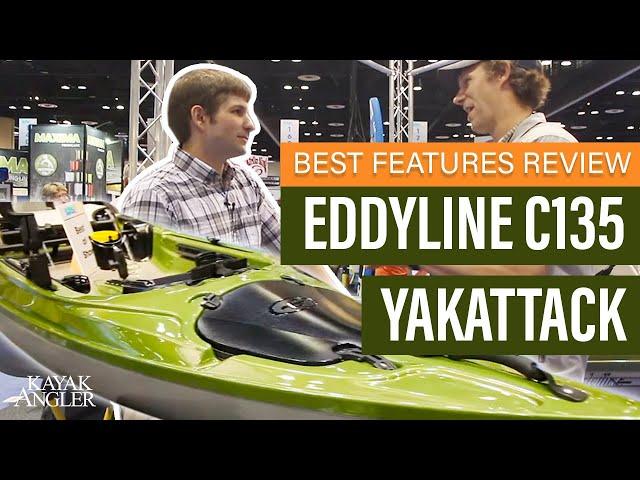 Eddyline C135 YakAttack 🎣 Fishing Kayak 📈 Specs & Features Review and Walk-Around 🏆