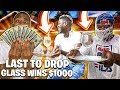 LAST TO DROP THE GLASS OF WATER WINS $10,000 (HE ATE A CRICKET 😱)