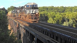 Norfolk Southern Train With Three EMD SD40-2's & an 80MAC
