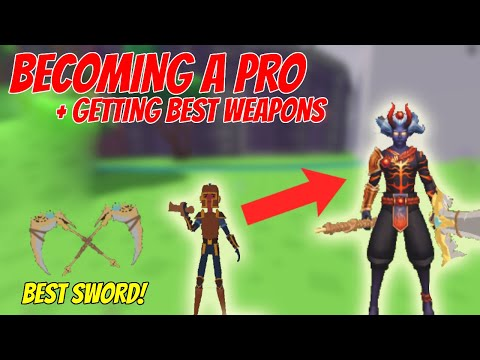 BECOMING A PRO | Getting The Best Weapons And Skin | ROBLOX GIANT SIMULATOR