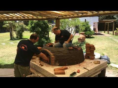 HORNO DE BARRO / HORNO A LEÑA / CONSTRUCCION - WOOD FIRED OVEN PIZZA BUILD
