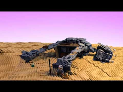 STAR WARS The Force Awakens in LEGO - Behind the scenes Part 2 ( Jakku )