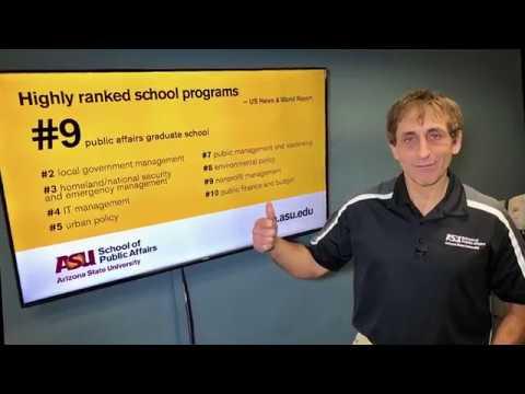 ASU Ranks In Top 10 Public Affairs Graduate Schools