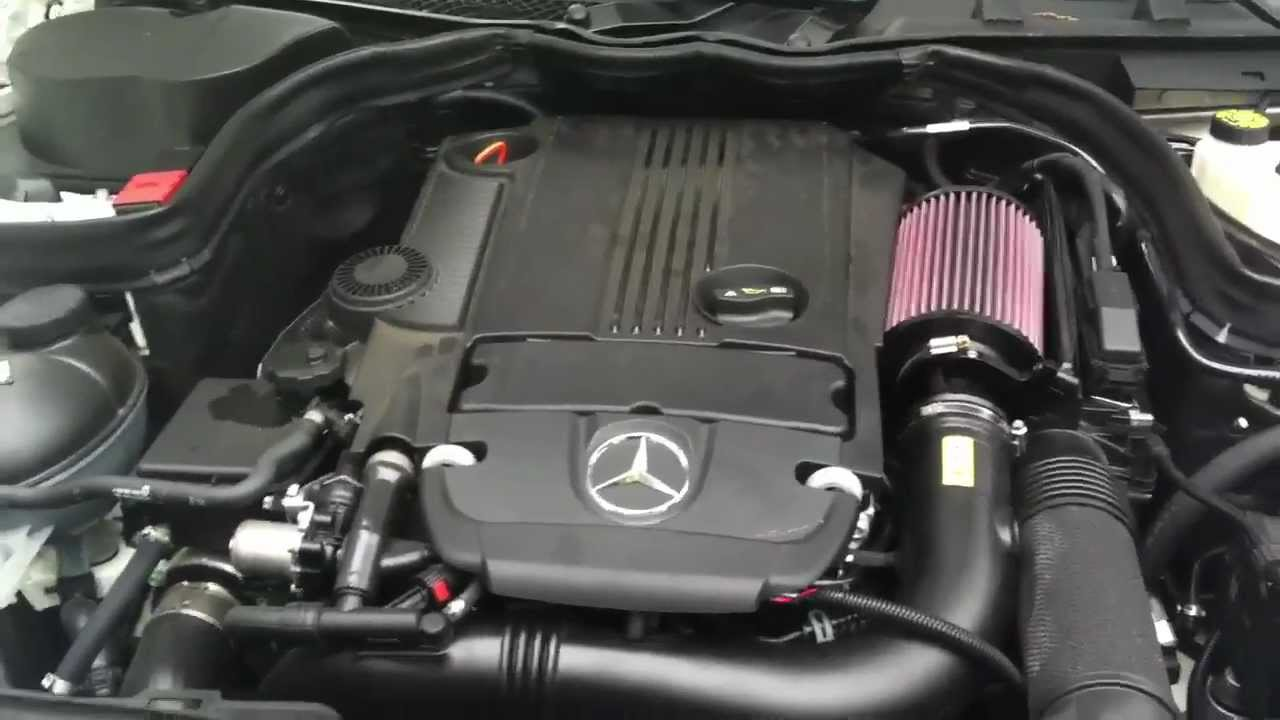 2012 C250 Stage 1 Tune Amp Intake Youtube