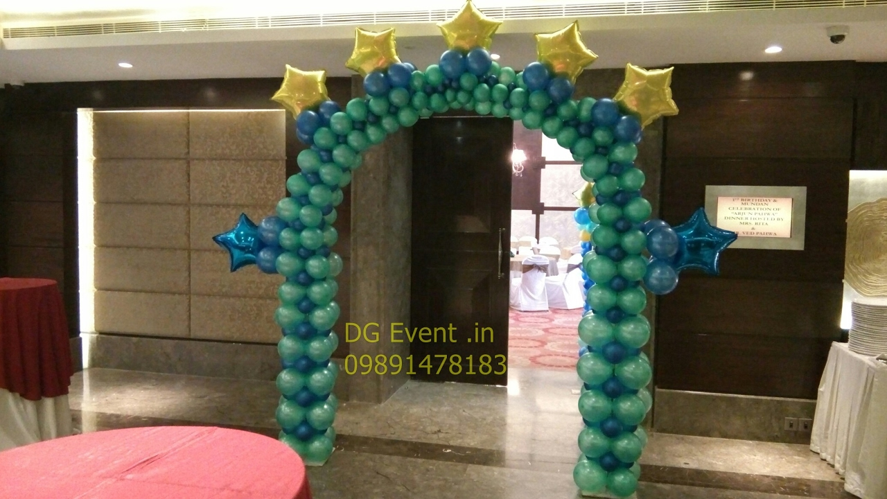 Moon and Stars birthday party theme decor in gurgaon 09891478183