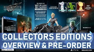 Final Fantasy 7 Remake Collectors AND Deluxe Editions - Detailed Overview And Pre-order Details