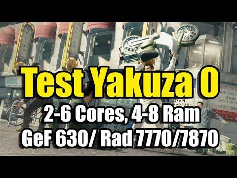 Обзор Yakuza 0 на слабом ПК ( 2-6 Cores, 4-8 Ram, GeF 630/ Rad 7770/7870)