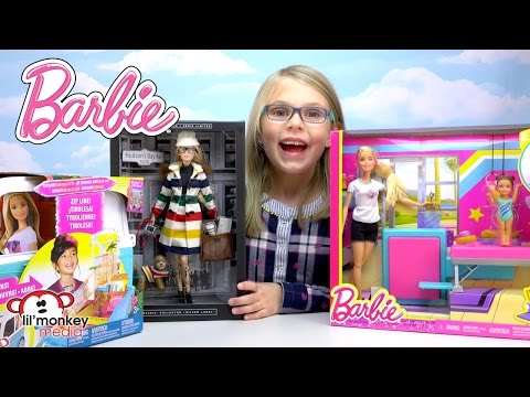Barbie!!  Limited Edition, Gymnastics and Ultimate Puppy Mobile!