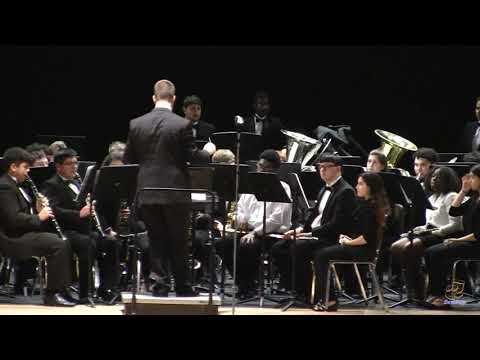 East Wake High School Wind Ensemble performs Mountain Dance on 3/27/2019
