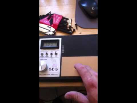 Measuring the SE 5 Biofield Spectrum Analyzer