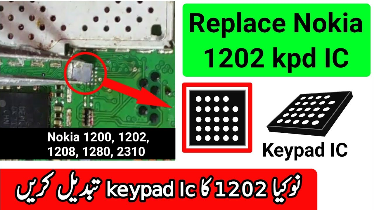 nokia 1202 keypad problem solution ic change zm lab youtube
