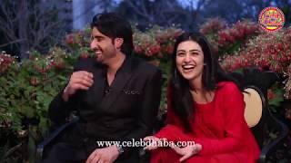 Aagha Ali & Sarah Khan on the set of Band Khirkiyan