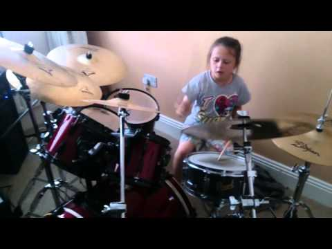 21 guns 7 year old sophie drum cover