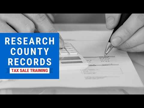 Tax Lien, Tax Deed Investing Training - Research County Records Webinar Tutorial
