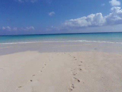 はての浜は時間によってこんな小さな砂浜も!?