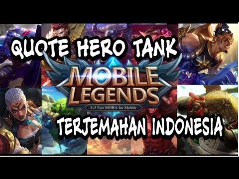 Kata Kata Mutiara Hero Tank Mobile Legend Berserta