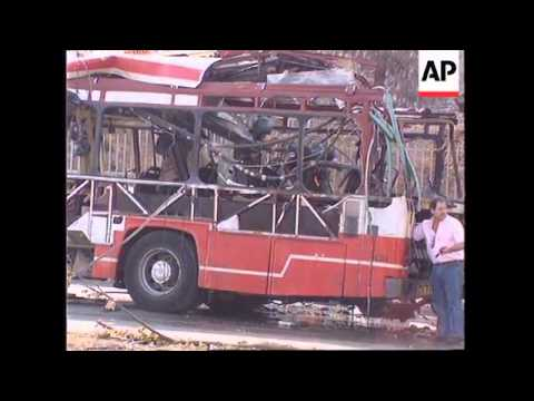 ISRAEL: JERUSALEM:  5 KILLED IN BOMB EXPLOSION ON RUSH HOUR BUS