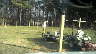 Part 1 Time Lapse - Building A Muscadine / Grape / Raspberry / Blackberry Trellis