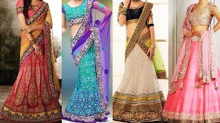 Gorgeous Ways To Wear Lehenga Saree & Makeup | How To Wear Lehenga In Different Style to Look Slim