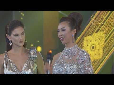 Miss Global 2017: TOP 5 Question and Answer Q&A Portion - FINALS Coronation Night (HD)