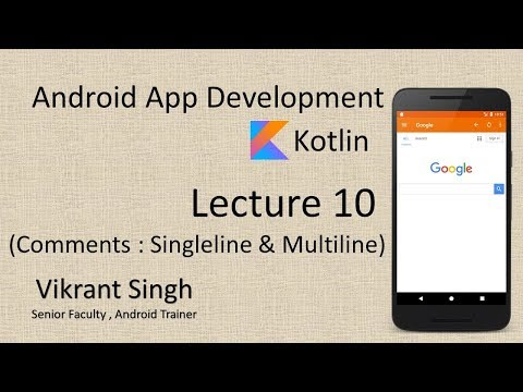 Kotlin in Hindi (Lecture 10), Comments - Full tutorial on Android App Development thumbnail