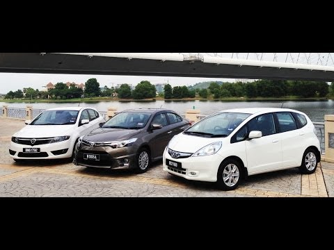 DRIVEN #1: Toyota Vios Vs Proton Suprima S Vs Honda Jazz Hybrid