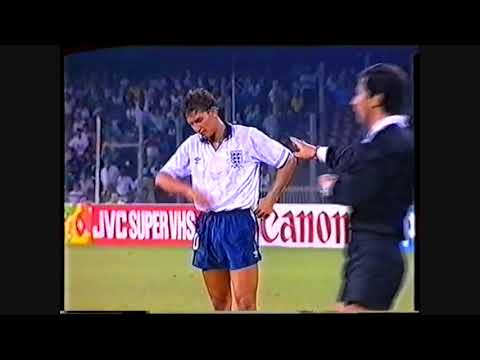 Lineker scores 2 penaltys for England vs Cameroon 01 07 1990 online video cutter com