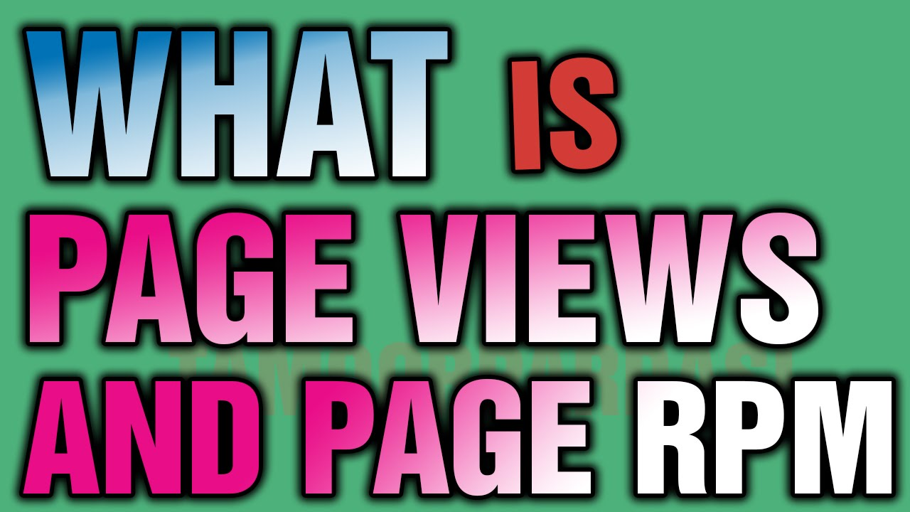 What is Page View And Page Rpm in Google Adsens Urdu/Hindi Tutorial