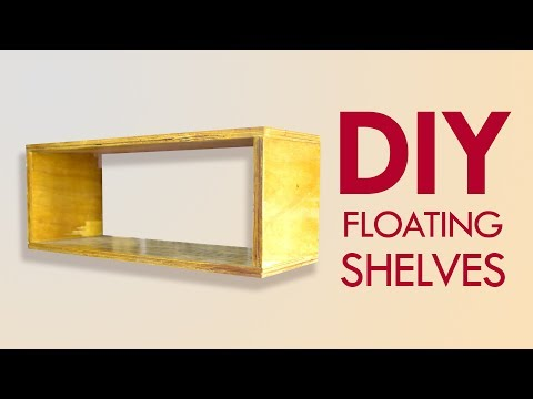 How to Make DIY Floating Kitchen Shelf with Hooks | Wood Working