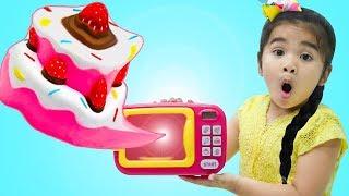 Suri Pretend Play w/ Squishy Food Ice Cream & Birthday Cake Toys