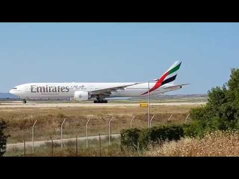 Emirates Boeing 777 take off from  ATH - LGAV to Newark