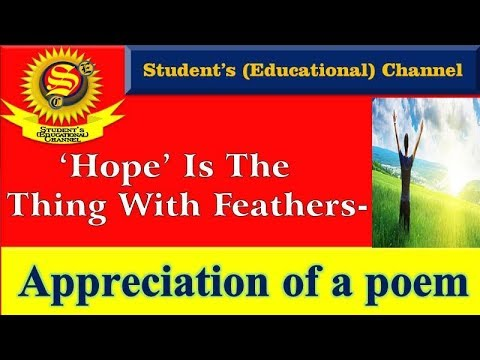 poem hope is a thing with feathers