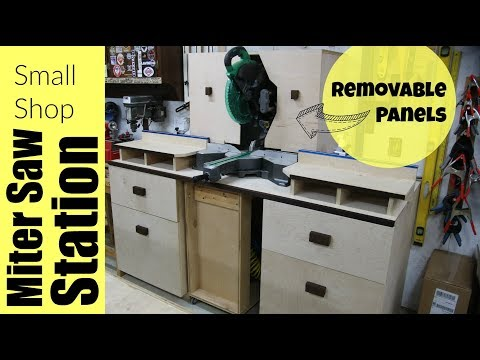 Small Shop Miter Saw Station - Woodworking