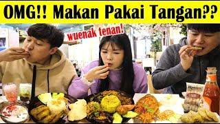 ORANG KOREA KULINERAN INDONESIA PAKAI TANGAN I 손으로 인도네시아 음식 먹기 MP3